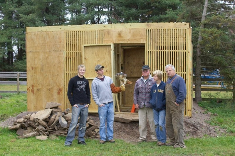 Our Newest Flight cage and the Eagle Scout who built it